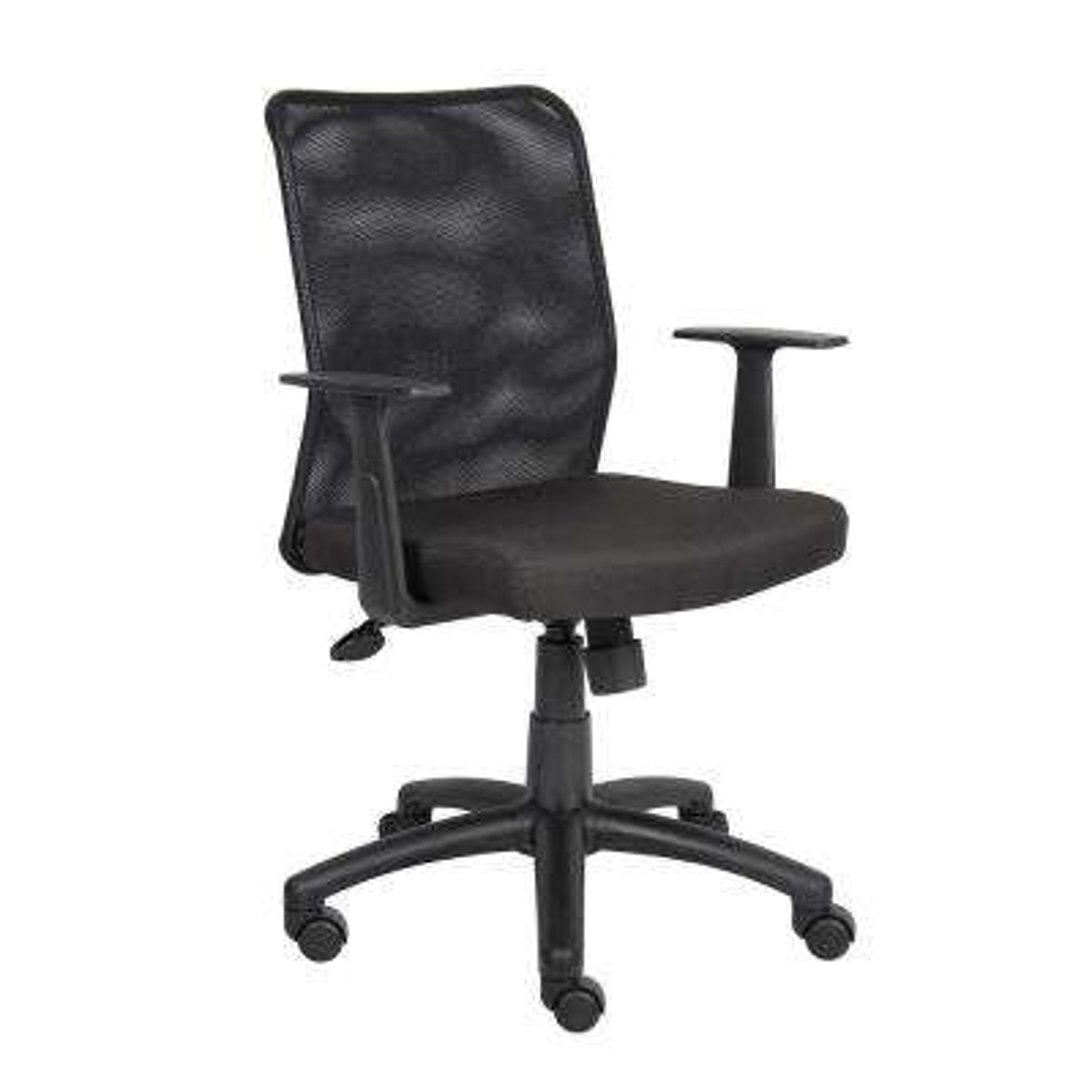 HomePro Mesh Task Chair Black Mesh Fabric T-Arms Pneumatic Lift