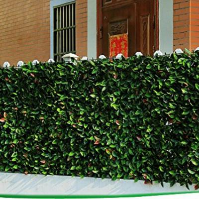 GorgeousHome Artificial Boxwood Hedge Greenery Panels EuropeanLaurel 20 in. x 20 in. (6-Piece)