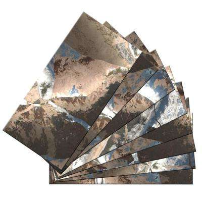 3 in. x 6 in. x 2mm Skinny Peel and Stick Glass Skin Wall Mosaic Tile (6 sq. ft. / set of 48)