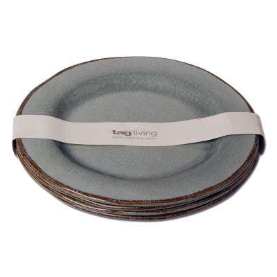 Veranda Slate Blue Melamine Dinner Plate (Set of 4)