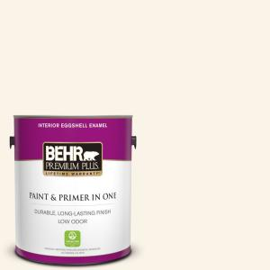 1 gal. #W-D-400 Cotton Fluff Eggshell Enamel Low Odor Interior Paint and Primer in One