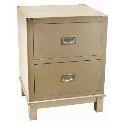 24 in. Champagne Wood Cabinet