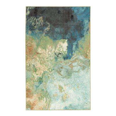 Marble Ink Blue 5 ft. x 8 ft. Area Rug