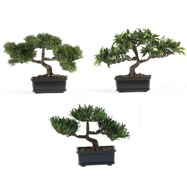 12 in. Bonsai Silk Plant Collection (Set of 3)
