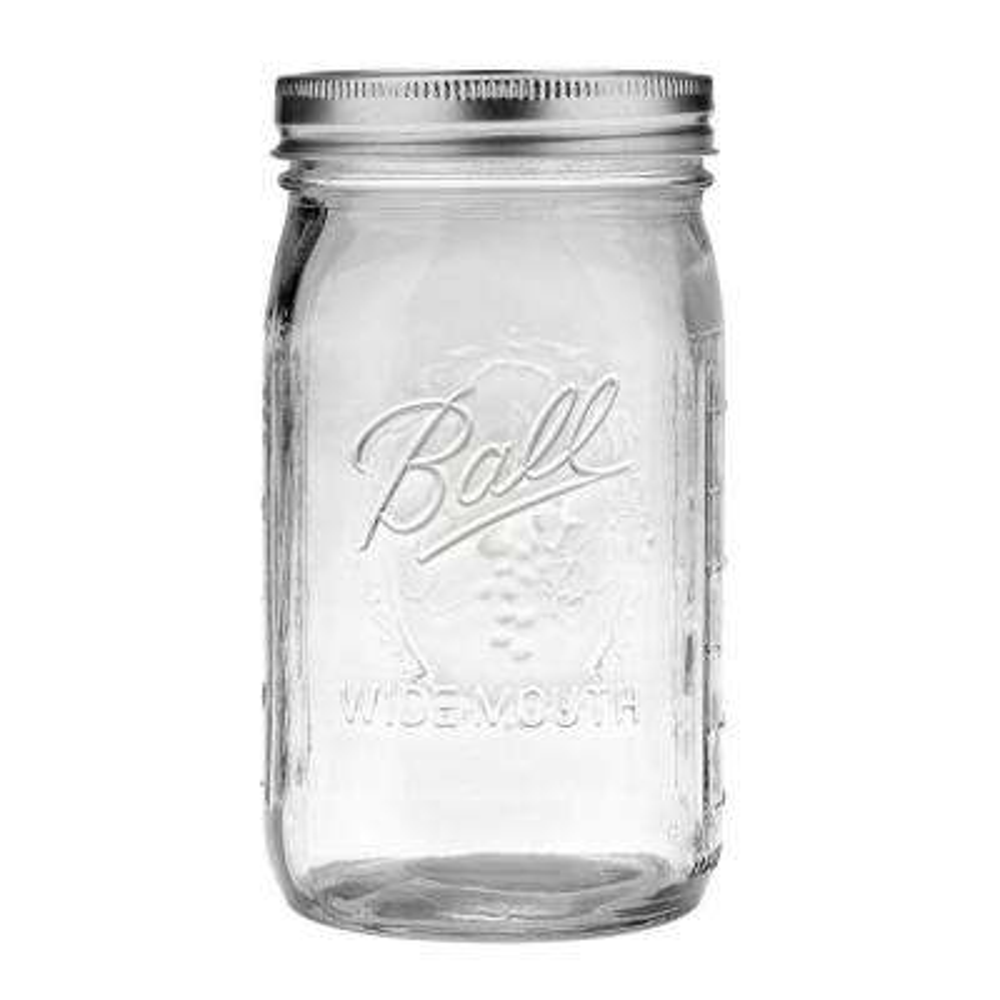 32 oz. Wide Mouth Quart Jar (Case of 12)