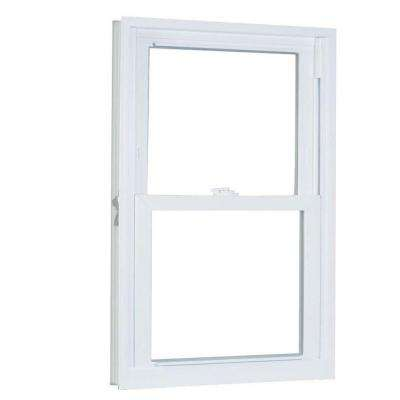 23.75 in. x 61.25 in. 70 Series Pro Double Hung White Vinyl Window with Buck Frame