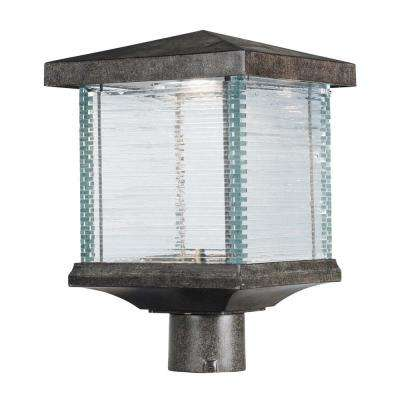 Triumph 10 in. Wide 1-Light Outdoor Earth Tone Integrated LED Post Light