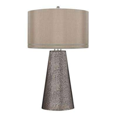 Wonderful Heavy Metal Mercury Mosaic Table Lamp