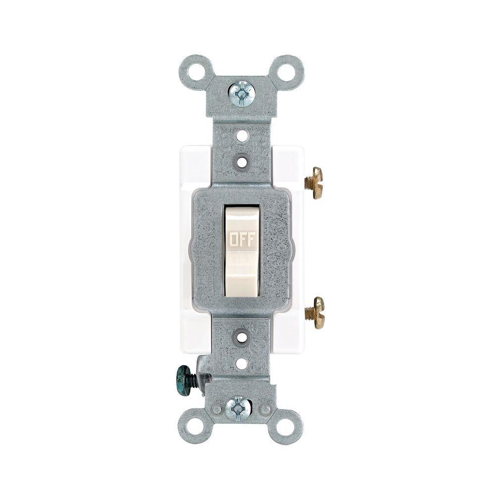 Leviton 20 Amp Commercial Grade Single-Pole Toggle Switch