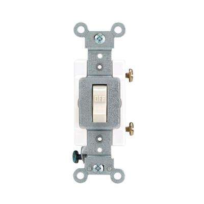 15/20 Amp Single-Pole Industrial Toggle Switch, Light Almond