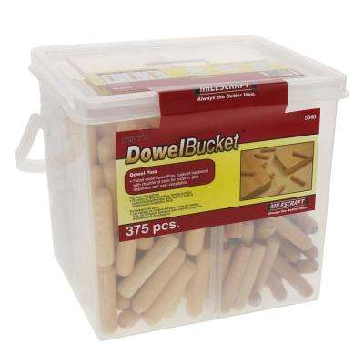 Dowel Bucket Fluted Hardwood Dowel Pins (375-Pieces)