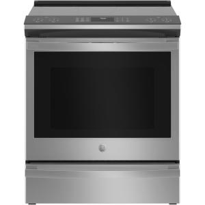 Profile 5.3 cu. ft. Slide-in Electric Range with Self Cleaning Convection Oven in Fingerprint Resistant Stainless Steel