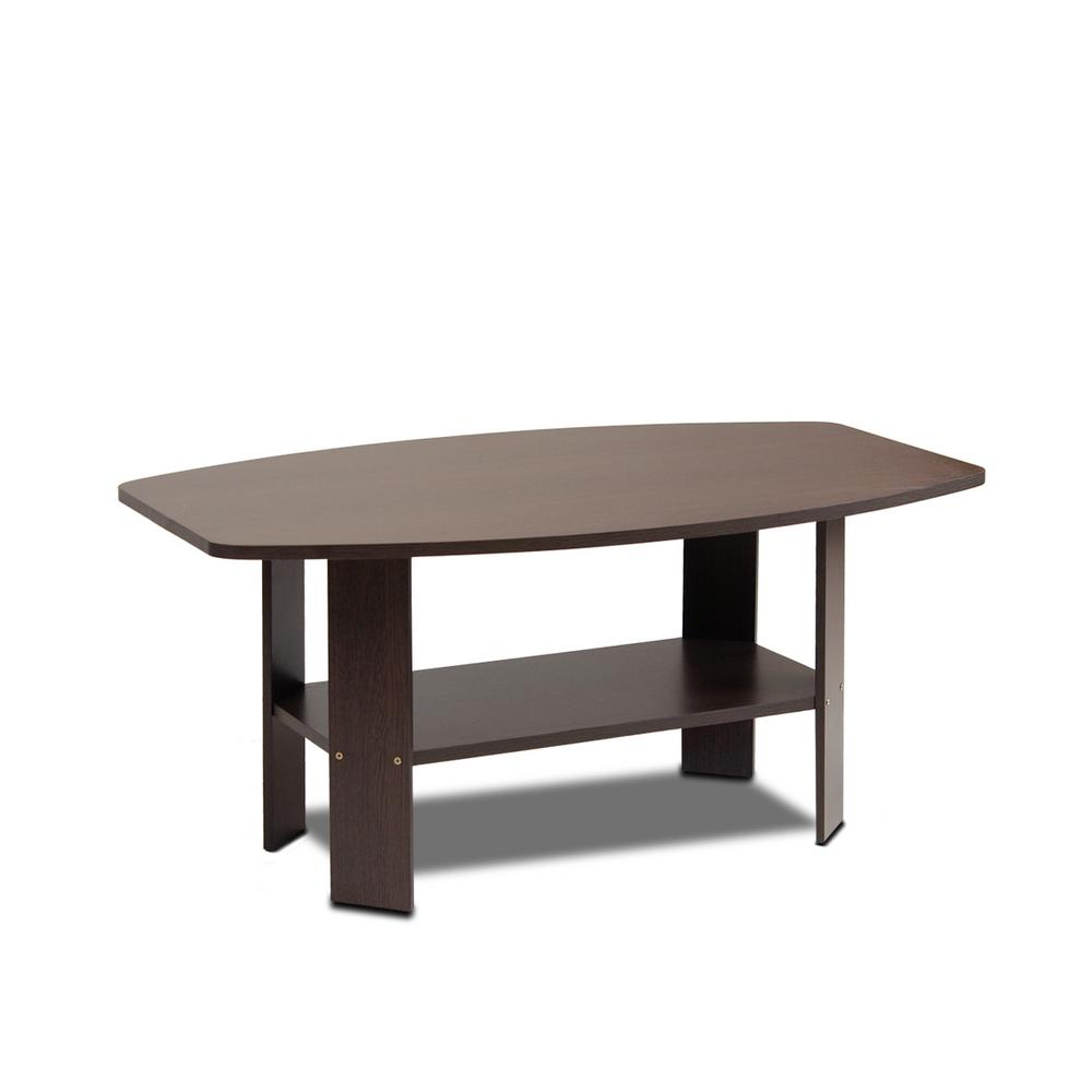 Simple Design Dark Brown Coffee Table 11179dbr The Home Depot