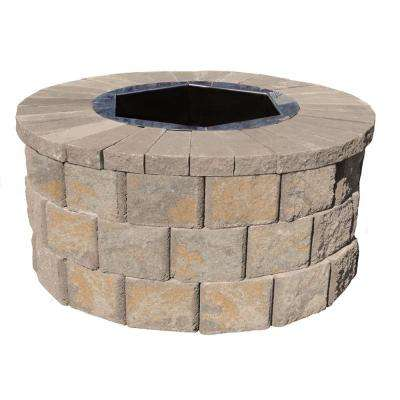 40 in. W x 20 in. H Rockwall Round Fire Pit Kit - Yukon