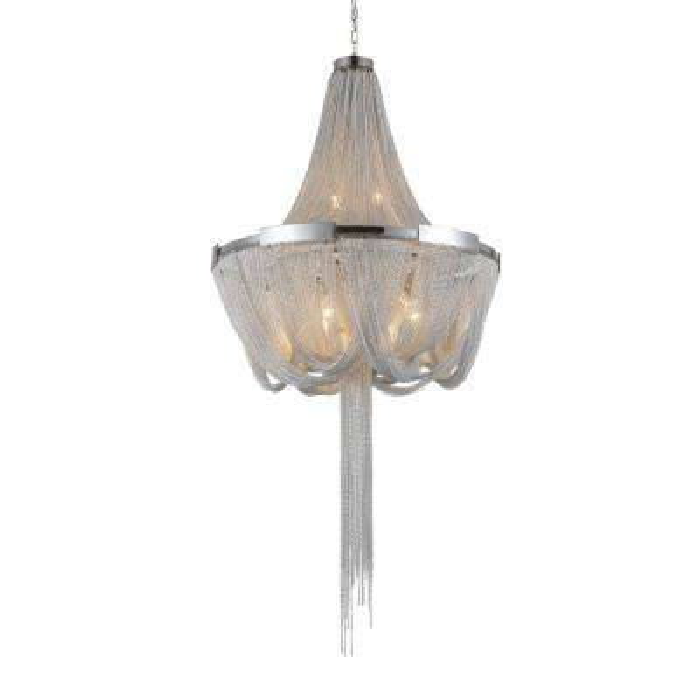 Enchanted 6-light chrome chandelier