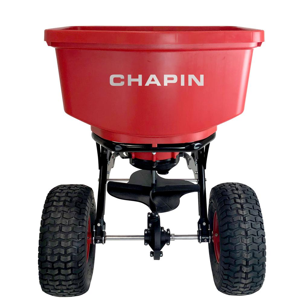 Chapin 150 lbs. Tow Behind Spreader with Auto-Stop