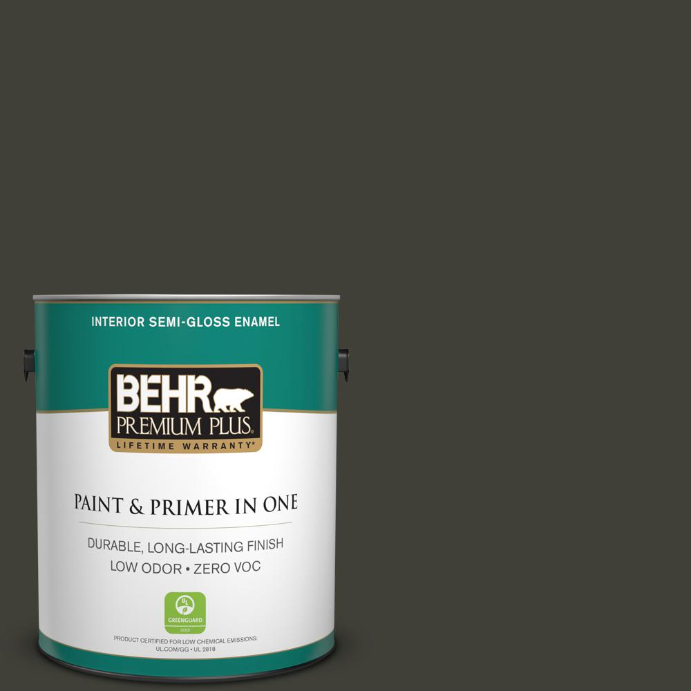 1 gal. #PPU18-20 Broadway Zero VOC Semi-Gloss Enamel Interior Paint