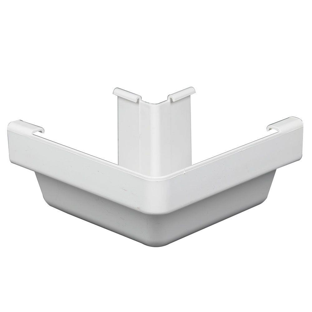 Amerimax Home Products White Vinyl K-Style Outside Corner