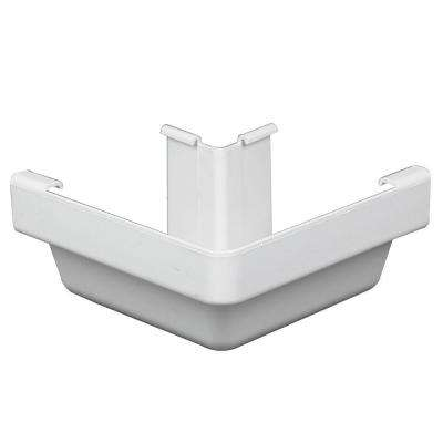 5 in. x 0.5 ft. White Vinyl K-Style Outside Corner
