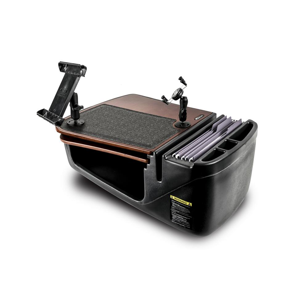 AutoExec Gripmaster with Built-In Power Inverter, Phone Mount and Tablet  Mount, Mahogany