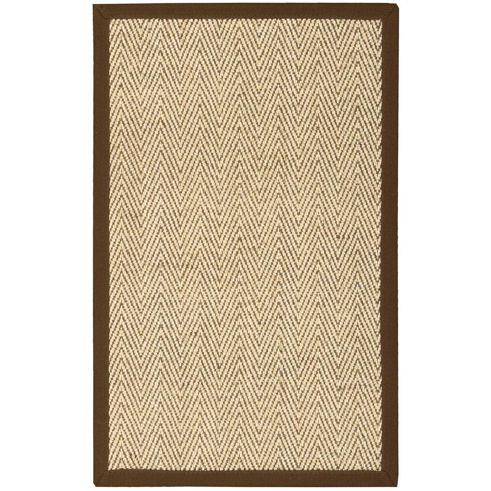 Herringbone Brown 2 ft. 6 in. x 4 ft. Accent Rug