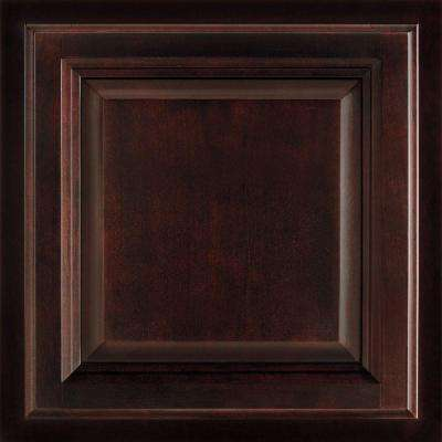 12-7/8 in x 13 in. Cabinet Door Sample in Portland Cherry Java