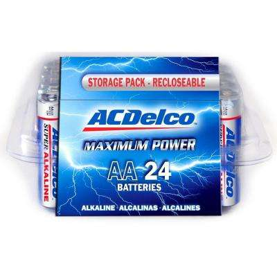 Super Alkaline AA Battery (24-Pack)