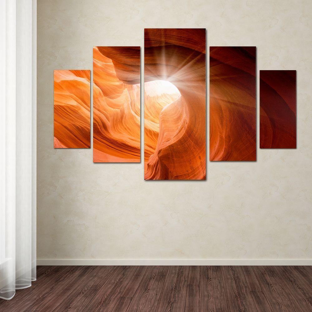 Trademark Smooth II by Moises Levy 5-Panel Wall Art Set