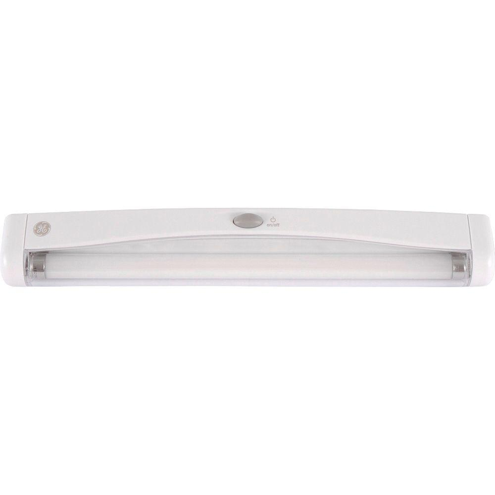Ge 12 In White Fluorescent Battery Operated Utility Light
