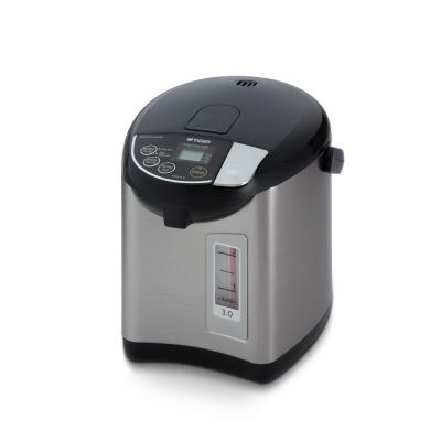 2.6-Cup Black Stainless Steel Electric Kettle and Water Boiler with Temperature Control
