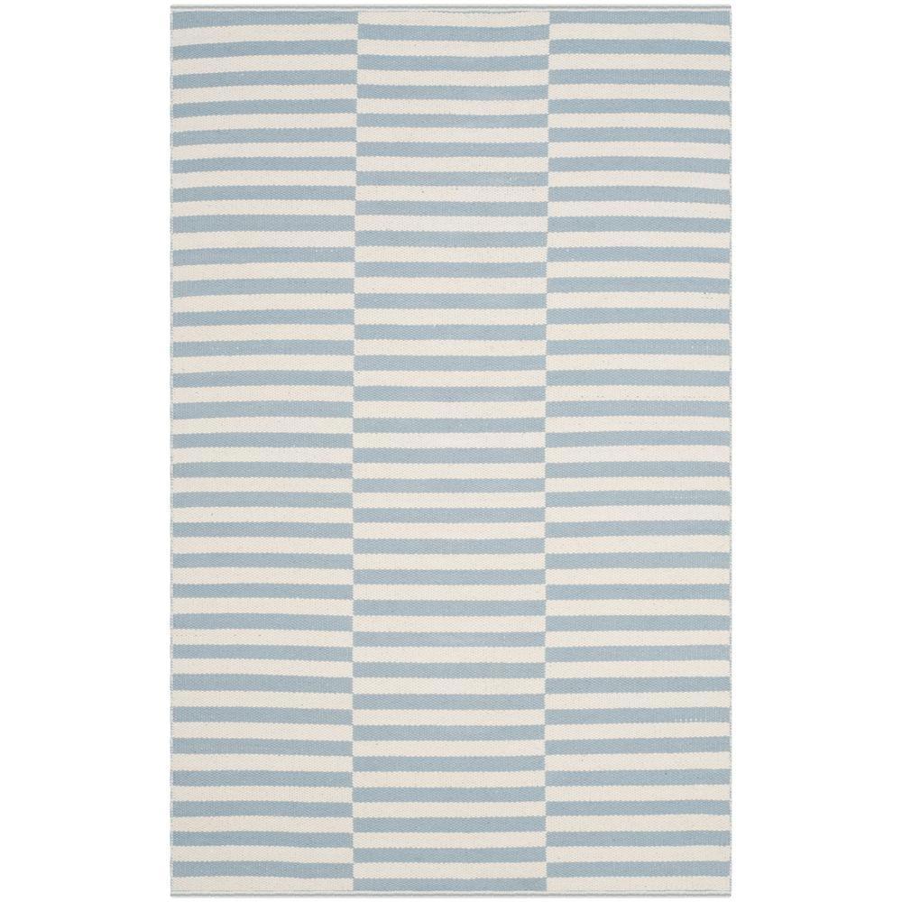 Montauk Ivory/Light Blue 4 ft. x 6 ft. Area Rug