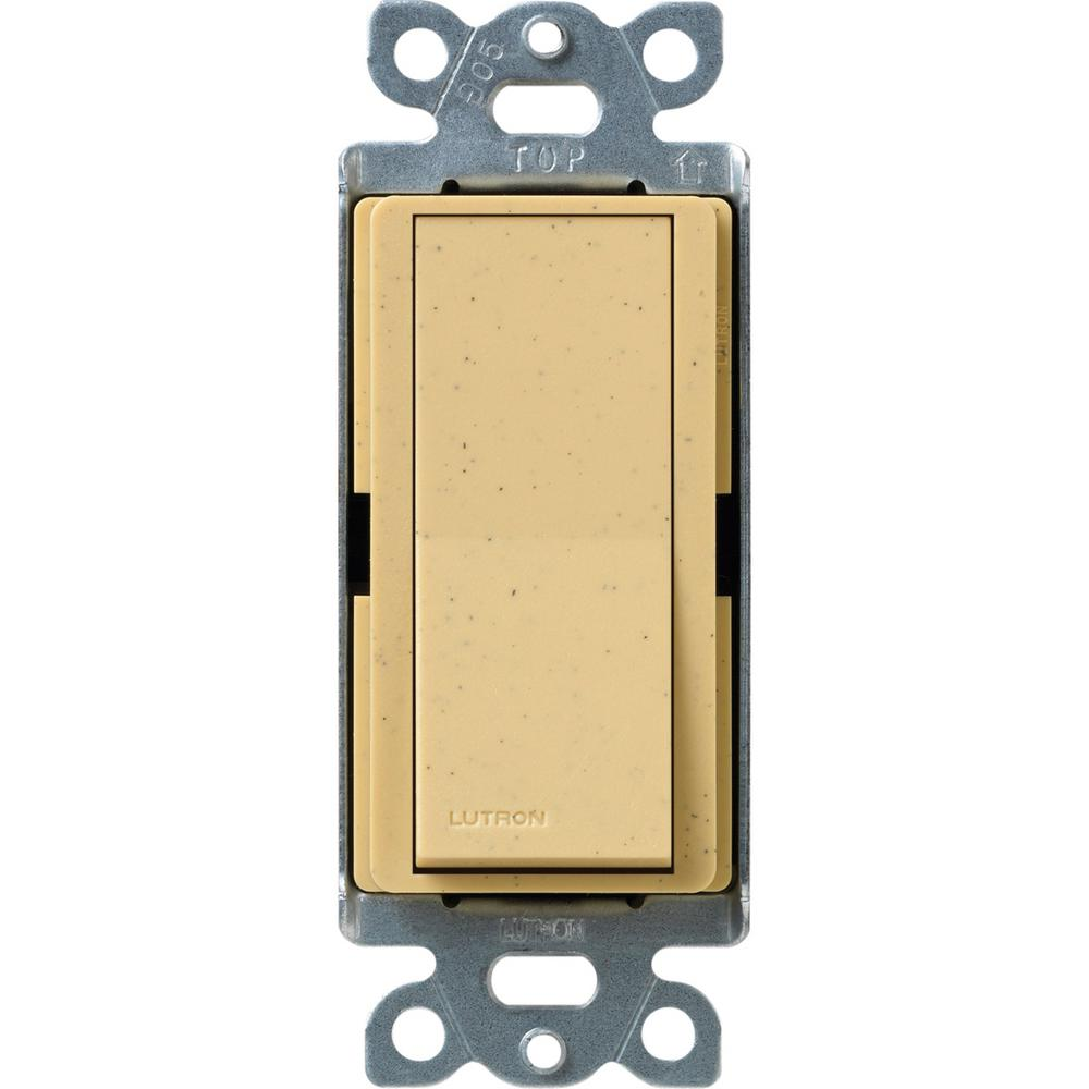 Claro 15 Amp 3-Way Rocker Switch with Locator Light, Goldstone