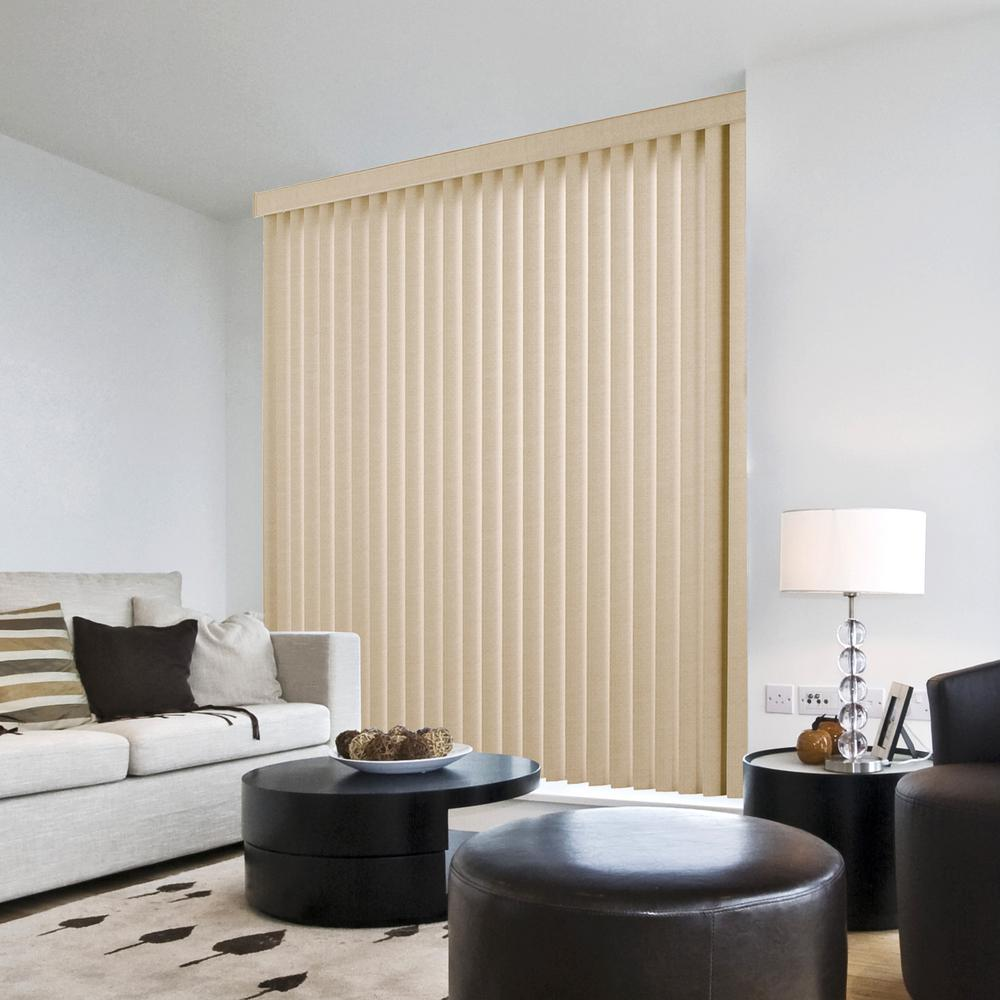 L textured khaki 3 5 vertical blind