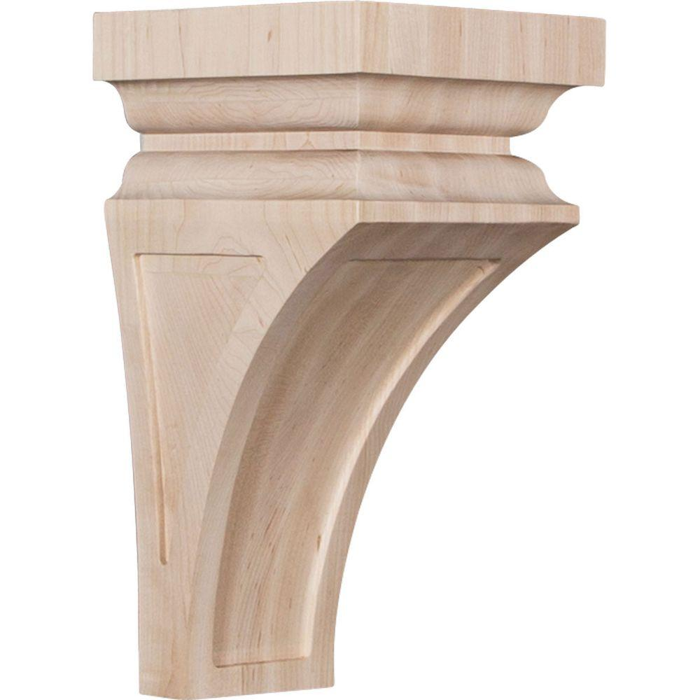 Ekena millwork 6 in x 12 in x 6 3 4 in alder large for Large exterior corbels