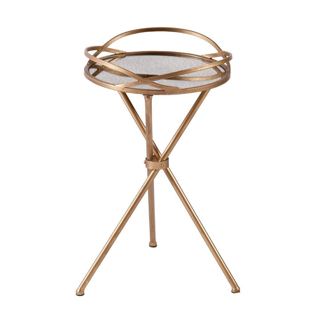 Huron Antique Bronze End Table