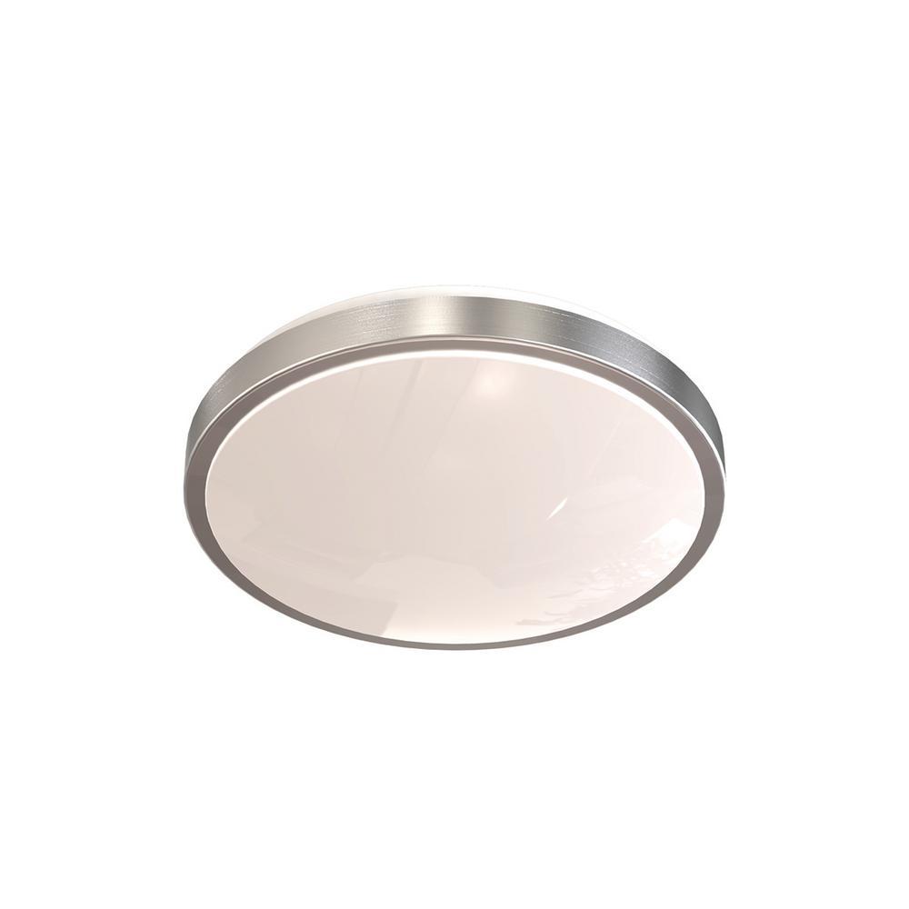 Artika moonraker 26 watt nickel integrated led flushmount for Ventilateur salle bain