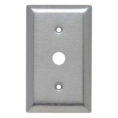 430 Series 1-Gang 17/32 in. Hole Coaxial Wall Plate, Stainless Steel