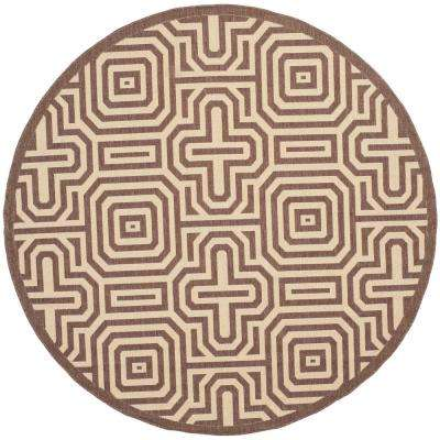 Courtyard Chocolate/Natural 5 Ft. 3 In. X 5 Ft. 3 In