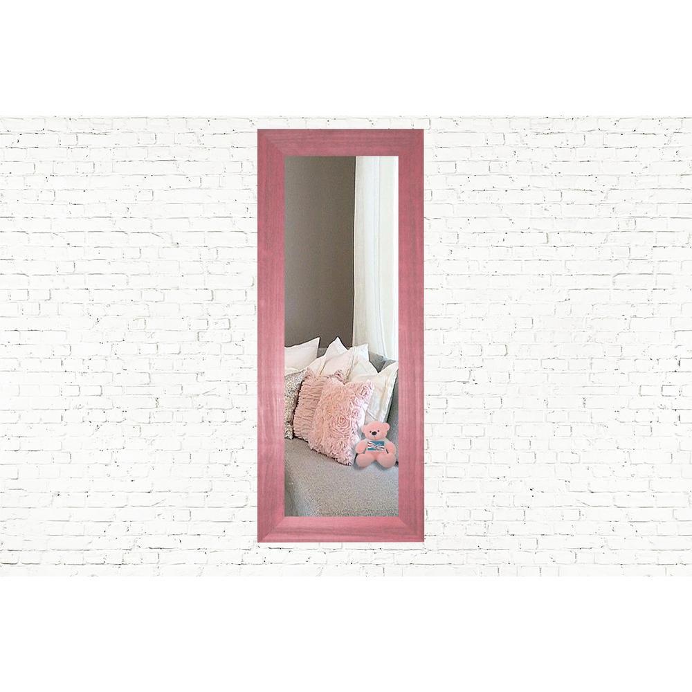 39.5 in. x 15.5 in. Vintage Pink Panel Vanity Mirror