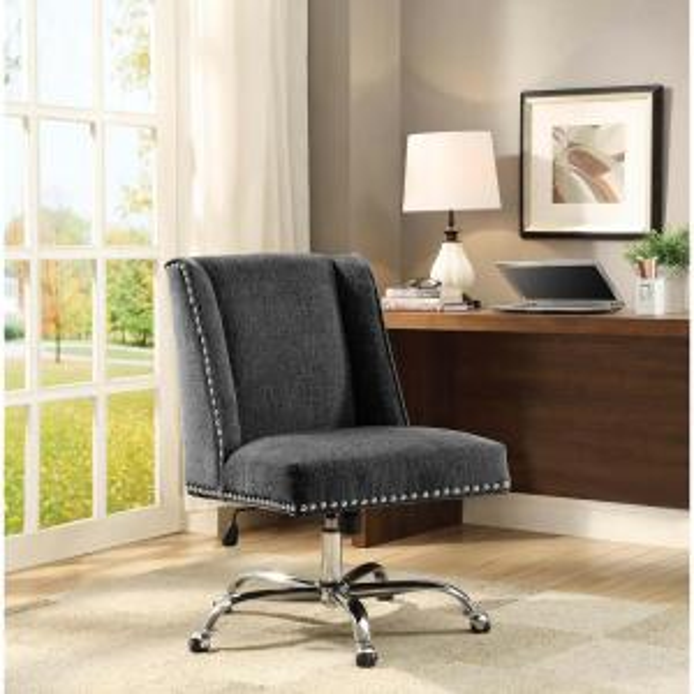 linon home decor draper aqua polyester office chair-178404aqua01u