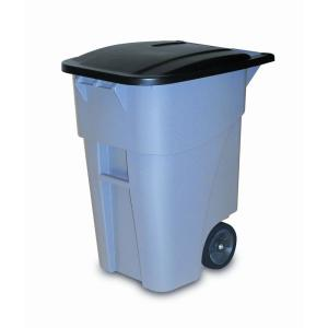 Rubbermaid Commercial Products Brute 50 Gal. Grey Rollout Trash Can with Lid by Rubbermaid Commercial Products