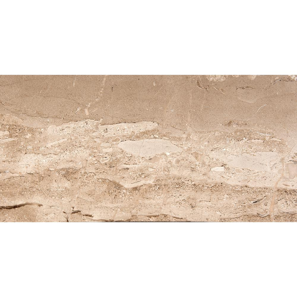 Marble Daino Reale Polished 12.01 in. x 24.02 in. Marble Floor