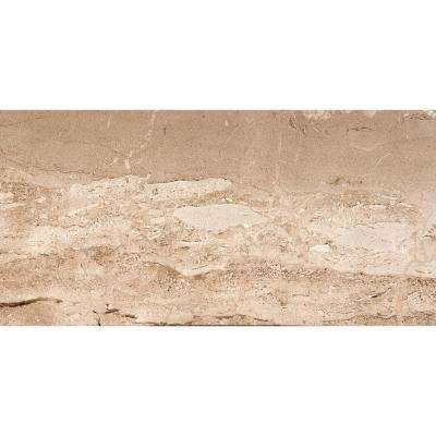 Marble Daino Reale Polished 12.01 in. x 24.02 in. Marble Floor and Wall Tile