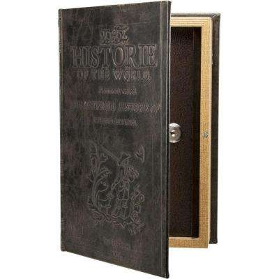 0.06 cu. ft. Steel Antique Book Lock Box Safe with Key Lock