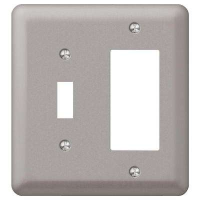 Devon 1 Toggle 1 Decora Wall Plate - Pewter