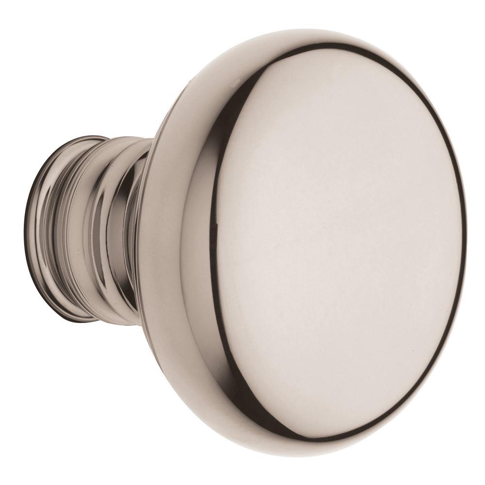 Classic Lifetime Polished Nickel Full-Dummy Door Knob Set