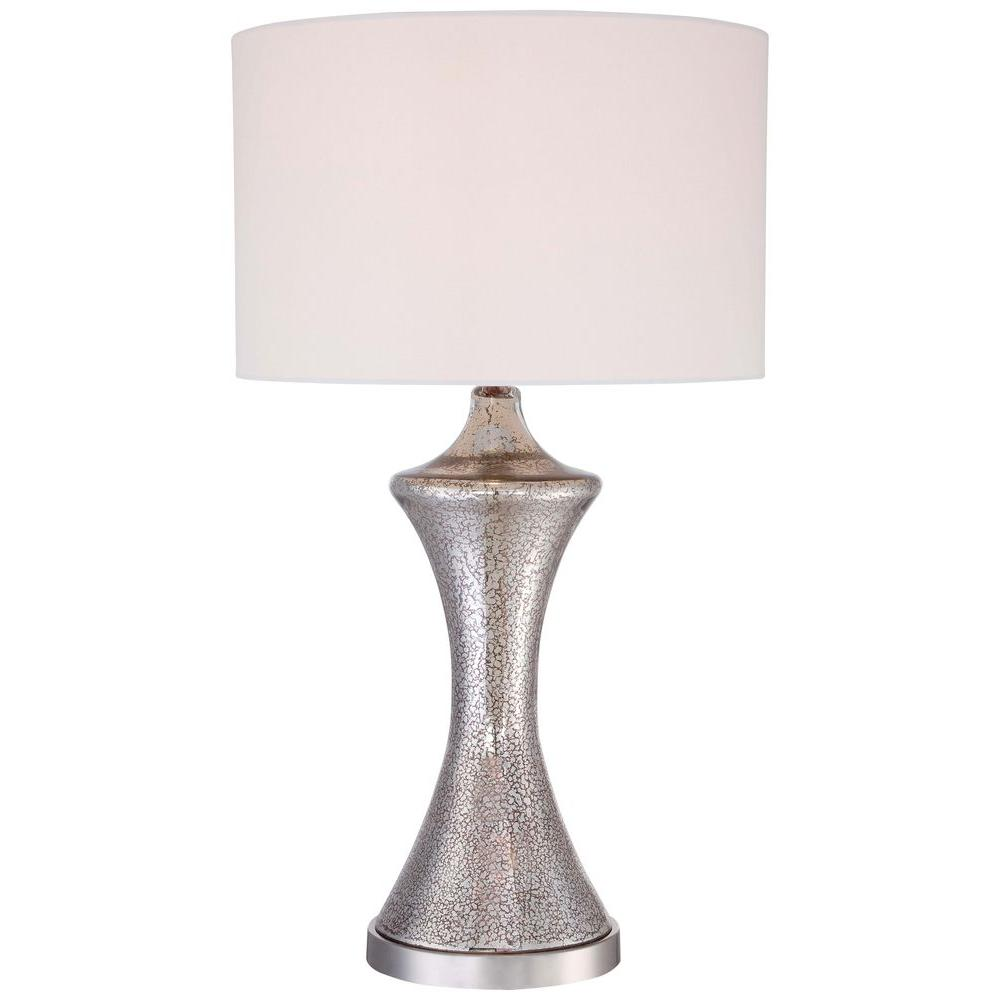 Ambience by minka lavery ambience 28 in polished nickel table ambience by minka lavery ambience 28 in polished nickel table lamp with shade 12422 0 the home depot geotapseo Choice Image
