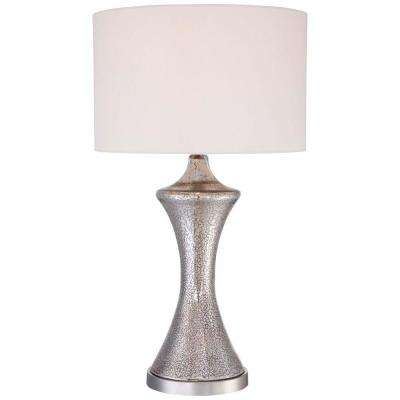 Ambience 28 in. Polished Nickel Table Lamp with Shade