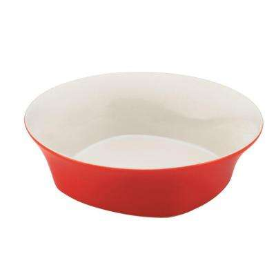 Round and Square 10 in. Round Serving Bowl in Red