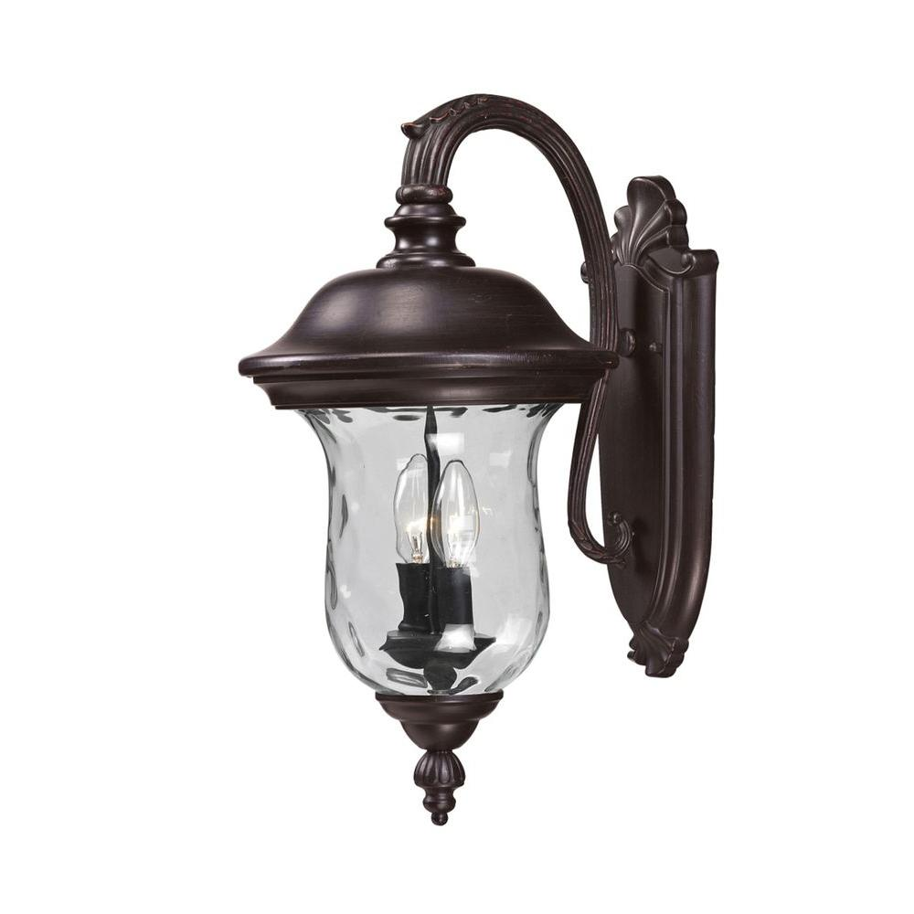Lawrence 2-Light Bronze Incandescent Outdoor Wall Light